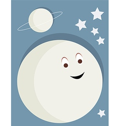 Smiling moon vector