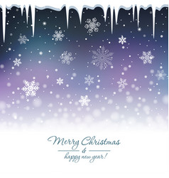 snowy blue background vector image
