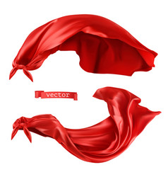 Superhero red cape 3d realistic vector