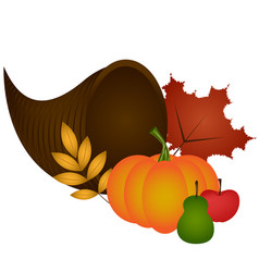 thanksgiving dinner ornament vector image