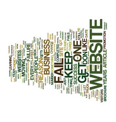 the number one reason most websites fail text vector image