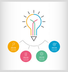 timeline infographic business concept vector image