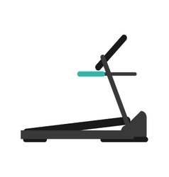 treadmill machine sport fitness vector image