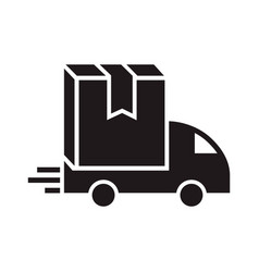 truck box delivery icon simple style vector image