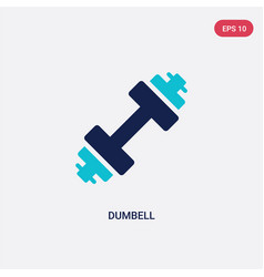 Two color dumbell icon from free time concept vector