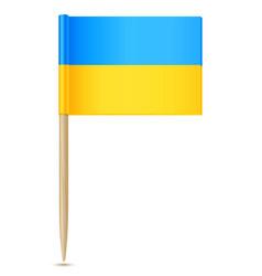 Ukraine flag toothpick vector