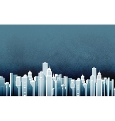 urban landscape skyscrapers in a big city vector image