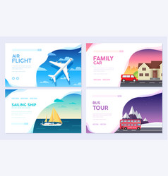 variations transport of travel vacation tour guide vector image