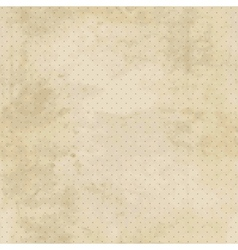 Vintage background with grunge texture and polka vector image
