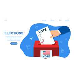 voting concept in flat style vector image