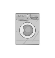 Washing machine icon black monochrome style vector image