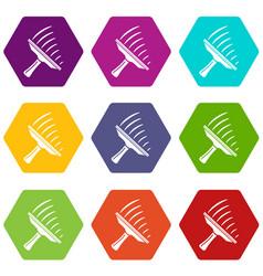 window mop icons set 9 vector image