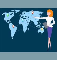 worldwide locations international business vector image