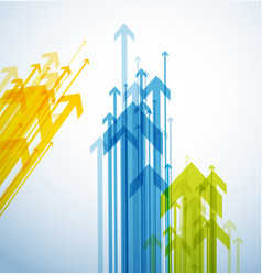 abstract background with colorful arrows vector image vector image
