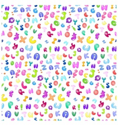 bubble Abc pattern vector image vector image