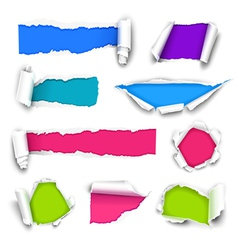 Color paper vector