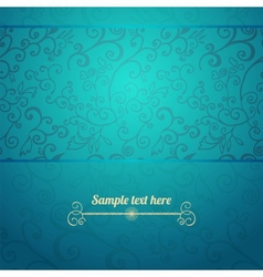 Excellent seamless floral pattern blue background vector image vector image