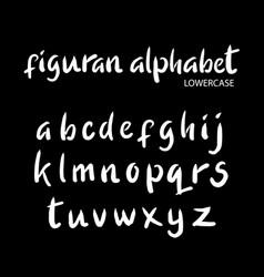 figuran alphabet typography vector image vector image