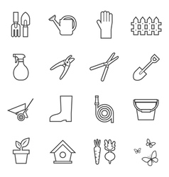 garden tools icon vector image