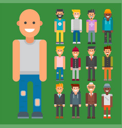 group of men portrait different nationality vector image vector image