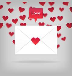 happy valentine s day envelope vector image