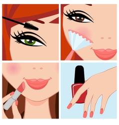 make up set vector image vector image