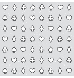 Casino pattern grey vector image vector image