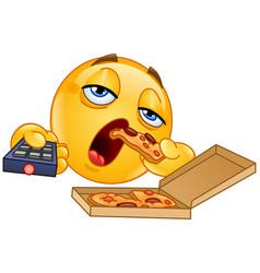 couch potato emoticon vector image