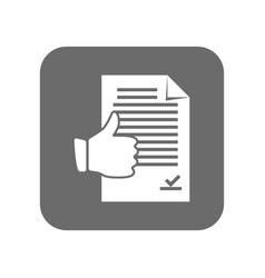 customer service icon with thumb up sign vector image vector image