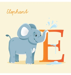 E for Elephent vector image vector image