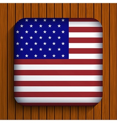flag icon on wooden background Eps10 vector image