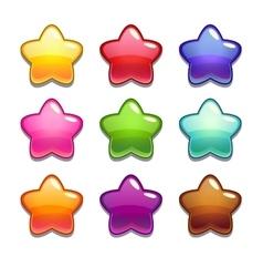 Glossy stars vector image vector image