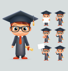 graduation cap excellent diploma certificate vector image vector image