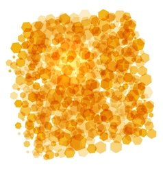 orange crystals background vector image vector image
