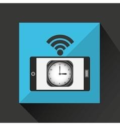 smartphone clock internet wifi icon vector image