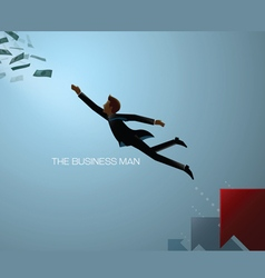 business man reach vector image vector image