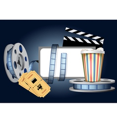 Cinematic set vector image vector image