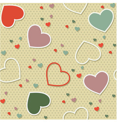 colored seamless pattern background valentine vector image vector image
