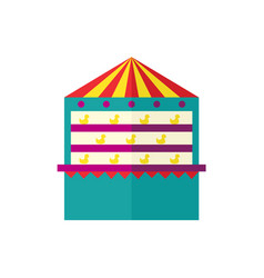 shooting gallery icon isolated vector image