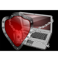computer security vector image