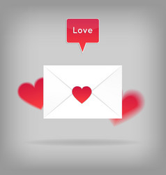happy valentine s day envelope vector image vector image