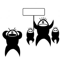 protestors vector image vector image