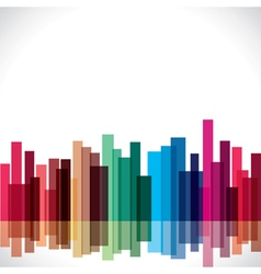 abstract colorful city stock vector image