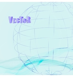 Abstract-grid-globe 02 vector image