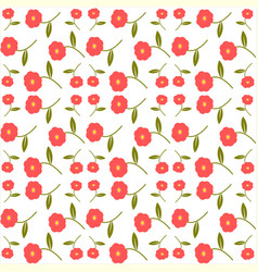 abstract seamless floral pattern print vector image