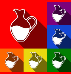 amphora sign set of icons with flat vector image