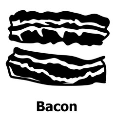 Bacon icon simple black style vector