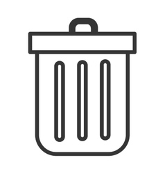 black and white trash bin graphic vector image