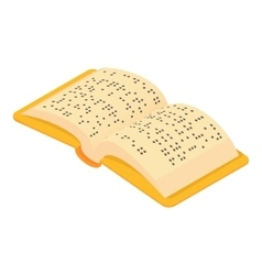 Book Braille for blind icon cartoon style vector image
