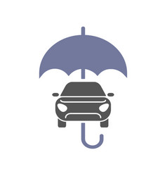 Car insurance sign icon protection symbol car vector